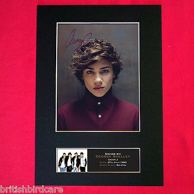 GEORGE SHELLEY Union J Signed Autograph Mounted Photo RE-PRINT A4 407