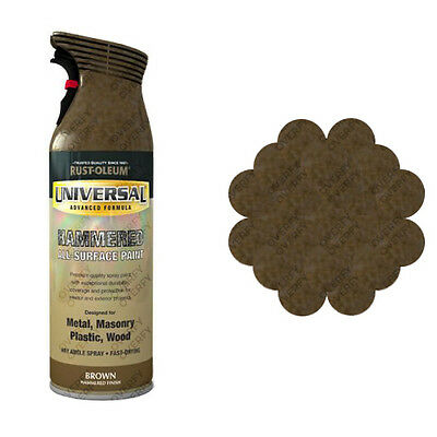x3 Rust-Oleum Universal All-Surface Spray Paint 400ml Any Angle Brown Hammer