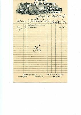 Old letterhead C W Outhit Fruits and produce Halifax NS 1907