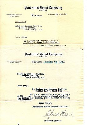 Old letter head letterhead Prudential Trust Company montreal 1921  2 of