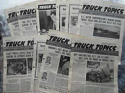 10 Old 1940's Issues Truck Topics Magazine B.F.Goodrich Rubber Co