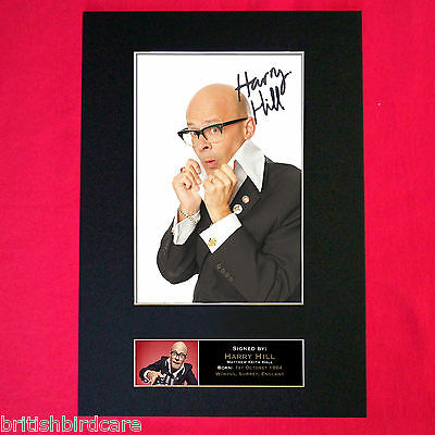 HARRY HILL Mounted Signed Photo Reproduction Autograph Print A4 128