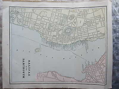 Antique Color Map from Geo.F.Cram Atlas Halifax & Dartmouth & Boston