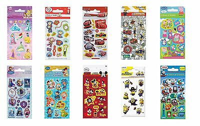 Childrens Character Party Bag Stickers - Pack of 6 - Disney Party Bag Fillers