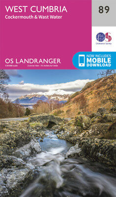 West Cumbria Cockermouth & Wast Water Landranger Map 89 Ordnance Survey 2016