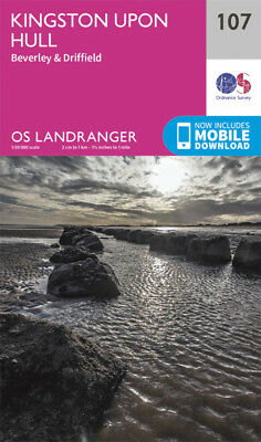 Kingston upon Hull Beverley & Driffield Landranger Map 107 Ordnance Survey 2016