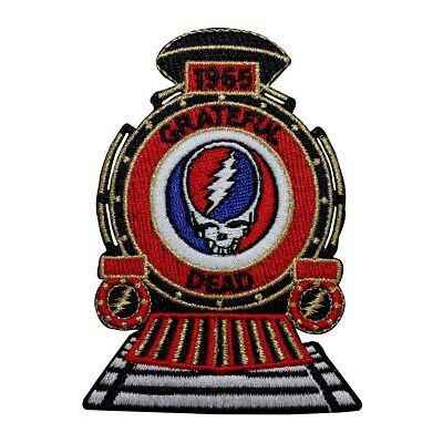 Grateful Dead Steal Your Face Train Rock Band Embroidered Iron On Applique Patch