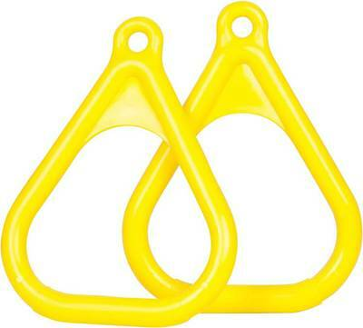 SWING SET STUFF PLASTIC TRAPEZE RINGS YELLOW (PAIR) playground accessory 0005