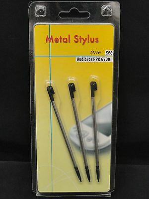 NEW 3 Pack Metal Stylus Model S68 for Audiovox PPC 6700 Pocket PC Phone
