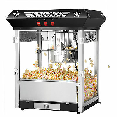 Great Northern Paducah Black Antique Style Popcorn Popper Machine, 8 oz