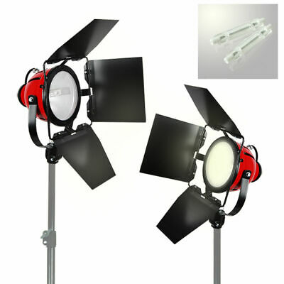 2X Pro Photo Video Studio Continuous Red Head Light 800w Video Lighting + Bulb