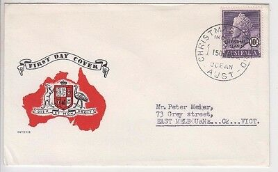 Stamp Christmas Island Australia 10c QE2 definitive on Guthrie generic FDC