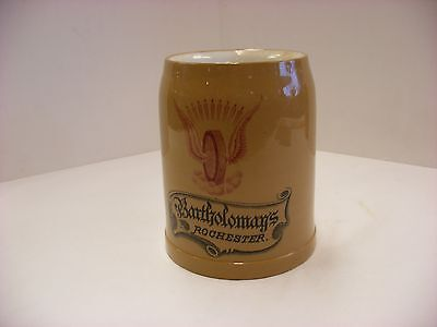 Pre-Pro Mettlach Beer Stein - Bartholomay Brewing Co Rochester NY Brewery No Lid