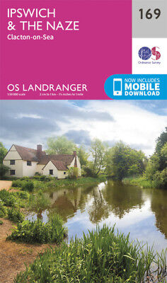Ipswich The Naze & Clacton on Sea Landranger Map 169 Ordnance Survey Latest