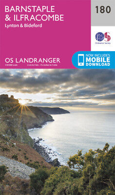 Barnstaple & Ilfracombe Lynton Bideford Landranger Map 180 Ordnance Survey Lates
