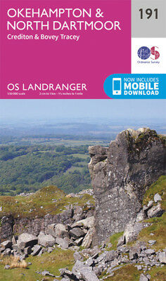 Okehampton & North Dartmoor Landranger Map 191 Odnance Survey 2016