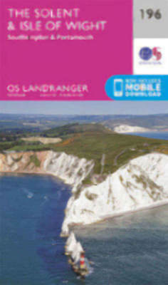 The Solent the Isle of Wight Southampton Portsmouth Landranger Map 196 OS 2016