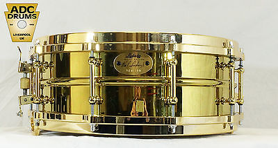 """Ludwig Millennium Brass Shell Snare Drum 14"""" x 5"""" (Number 90 of 100 - LM2000MB5)"""