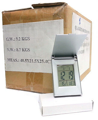 Wholesale Carton Of 100 Tent Clocks Quality Display Time Date Temperature