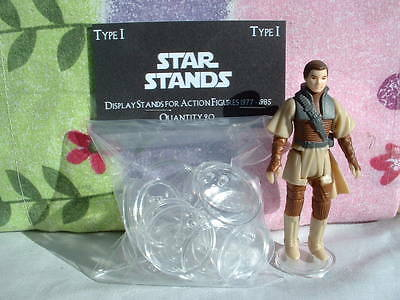 """Figure Display Stand LOT of 20 - 1"""" inch Clear, For Vintage Star War not ProTech"""