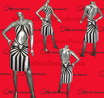 LATINO DANCE DRESS  COMPETITION  WITH HIGH QUALITY STONE M343