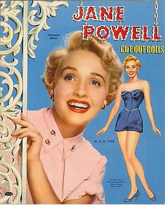 VINTGE 1953 JANE POWEL PAPER DOLL ~PRETTY~ REPRODUCTION~Org SIZE Unct NO.1 SELLR