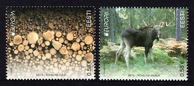 Estonia 2011 Europa Forests Set 2 MNH