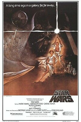 STAR WARS ~ NEW HOPE STYLE A 24x36 MOVIE POSTER EPISODE IV 4 Tom Jung Art