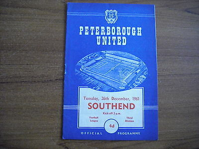 PETERBOROUGH UNITED v SOUTHEND UNITED - DECEMBER 26th 1961