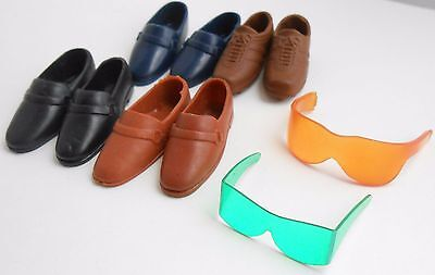 6 for $20 Barbie KEN GREEN TENNIS GOGGLES yellow glases FOUR PAIR VINTAGE SHOES
