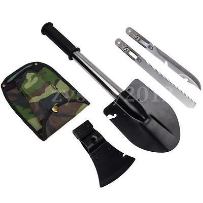 Military Survival Emergency Camping Hiking Knife Axe Saw Shovel Gear Kit Tools