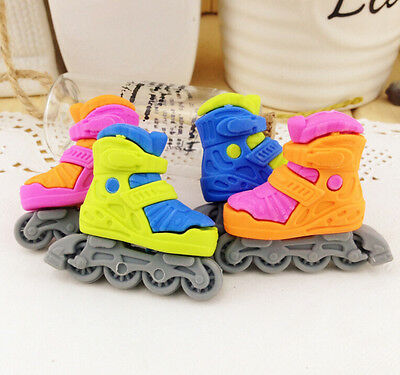 FD3715 Cool Skating Shoe Eraser Rubber Pencil Stationery Cute Child Gift 1pc