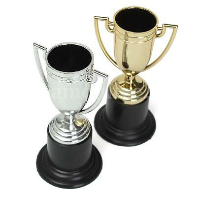 Mini Silver Gold Trophy Football Game Match Champion Cup Prize Award Kids Party
