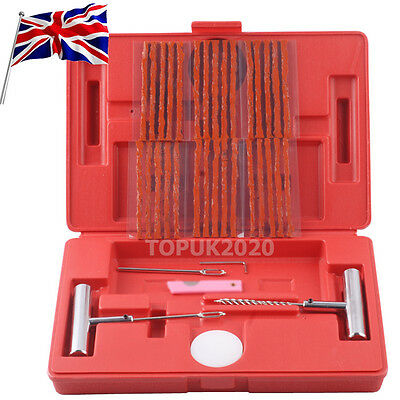 Tyre Puncture Repair Kit 37 Piece Tire 4X4 4Wd Off Road Tubeless  Plugs + Gloves
