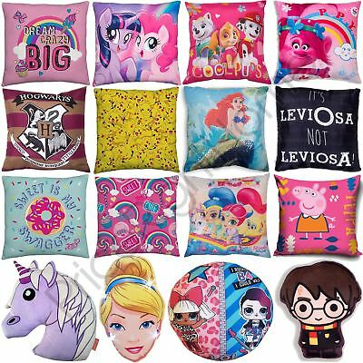 Girls Disney & Character Cushions Bedroom Frozen, Minnie, Shopkins, Peppa + More