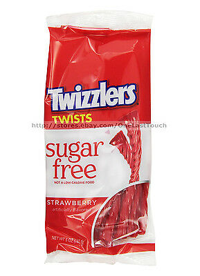 TWIZZLERS^5 oz Bag STRAWBERRY Licorice Twists SUGAR FREE Twists/Candy Exp. 3/17+