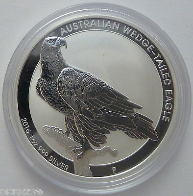 2016 Australian Wedge-Tailed Eagle BU 1 oz .999 Silver Bullion Coin