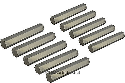 """10 LOT 1/2"""" Inch 2"""" Long 304 Stainless Steel Hex Bar Lathe SS Rod Stock .50"""""""