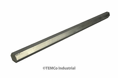 """1/2"""" Inch 9"""" Long 304 Stainless Steel Hex Bar Lathe SS Rod Stock .50"""""""