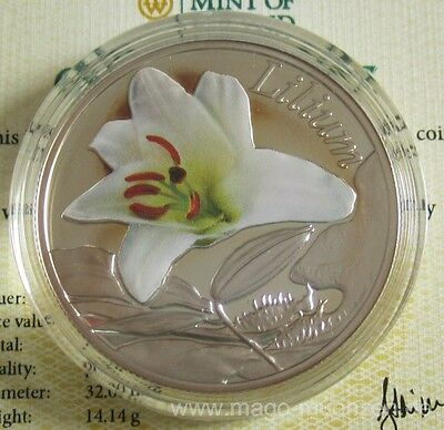 Belarus 10 Roubles 2013 Beauty of Flowers Lily Silver