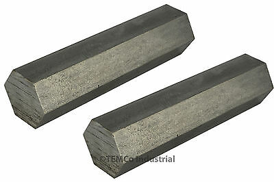 """2 LOT 3/4"""" Inch 3"""" Long 304 Stainless Steel Hex Bar Lathe SS Rod Stock .75"""""""