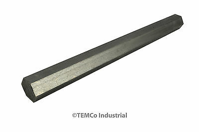 """7/8"""" Inch 12"""" Long 304 Stainless Steel Hex Bar Lathe SS Rod Stock .875"""""""