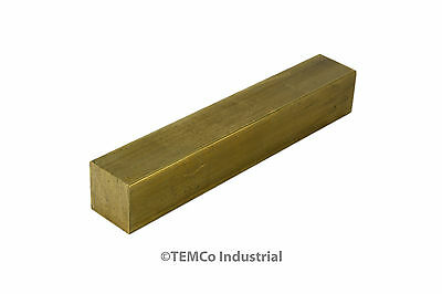 "5/8"" Inch 2"" Long C360 Brass Half Hard Square Bar Mill Rod Stock .625"""