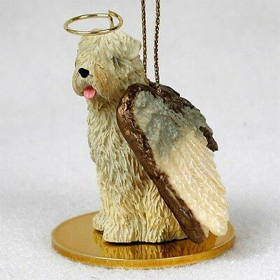 WHEATEN TERRIER dog ANGEL Ornament HAND PAINTED Figurine NEW puppy Christmas