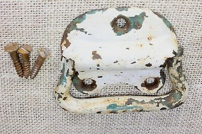 """Tool Box 3 5/8"""" drop handle drawer pull old tub vintage rustic paint cast iron"""