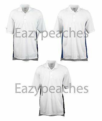 ADIDAS Golf Mens Size S-XL 2X 3XL Climalite Colorblock dri-fit Polo Sport Shirts