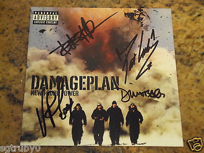 Authentic Signed Autographed Dimebag Damage Plan CD Insert all members
