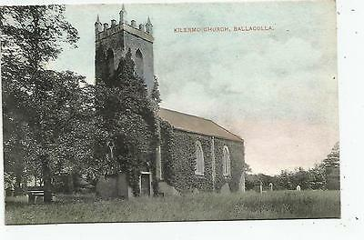 irish postcard ireland laois kilermo church ballacolla