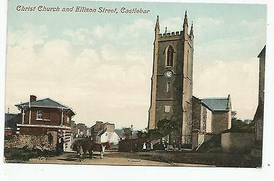 irish postcard ireland mayo christ church and ellison street castlebar