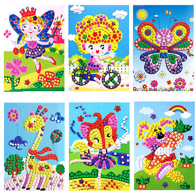 Baby Kids Developmental 3D Crystal Mosaics Art Sticker Mosaic Craft Kit Toy New